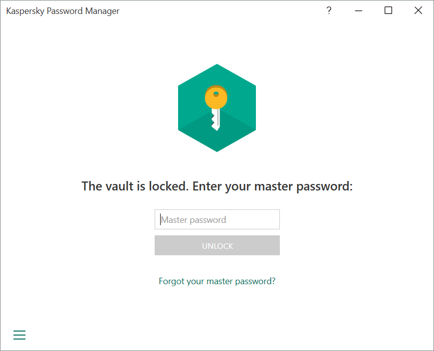 Screenshots Remember just one password to decrypt your vault