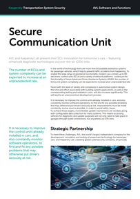 Secure Communication Unit