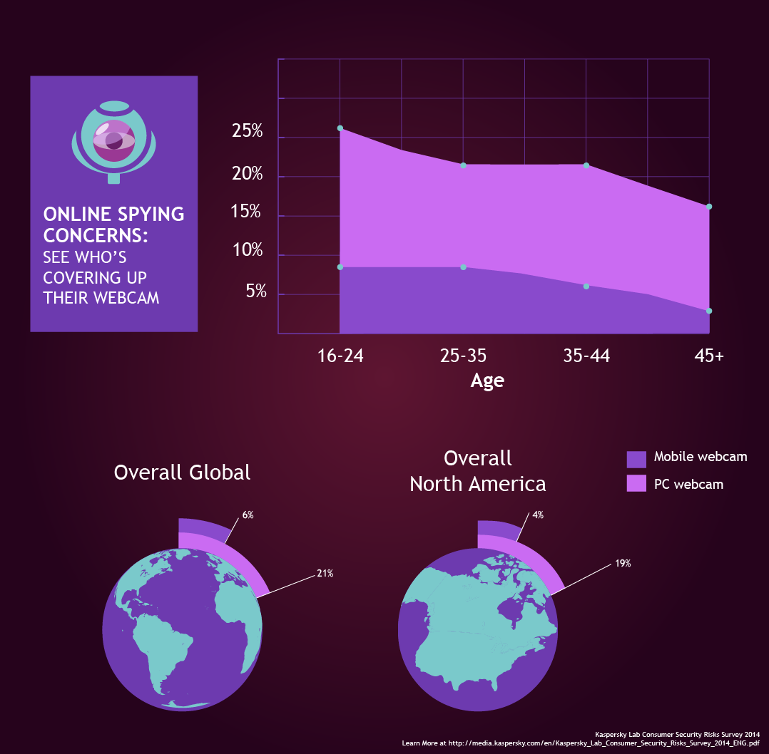 Infographic: Webcam Spying: An Eye on Online Anxieties