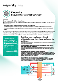 KASPERSKY SECURITY FOR INTERNET GATEWAY - DATA SHEET