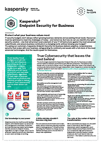 KASPERSKY ENDPOINT SECURITY FOR BUSINESS - DATASHEET