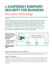 KASPERSKY ENDPOINT SECURITY FOR BUSINESS. ENCRYPTION TECHNOLOGY - DATASHEET