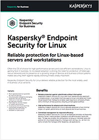 KASPERSKY ENDPOINT SECURITY FOR LINUX – DATA SHEET